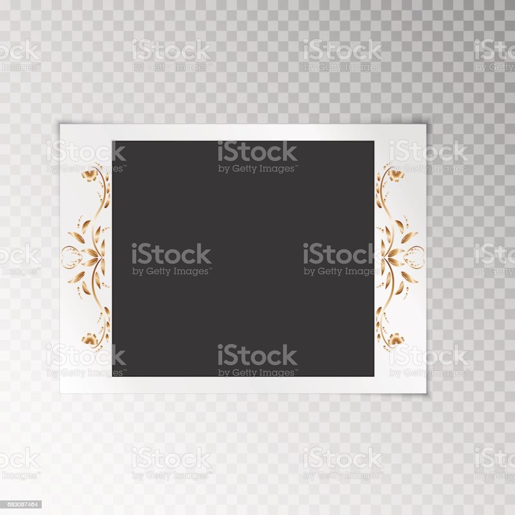 Photo frame with a flower pattern photo frame with a flower pattern - arte vetorial de stock e mais imagens de abstrato royalty-free