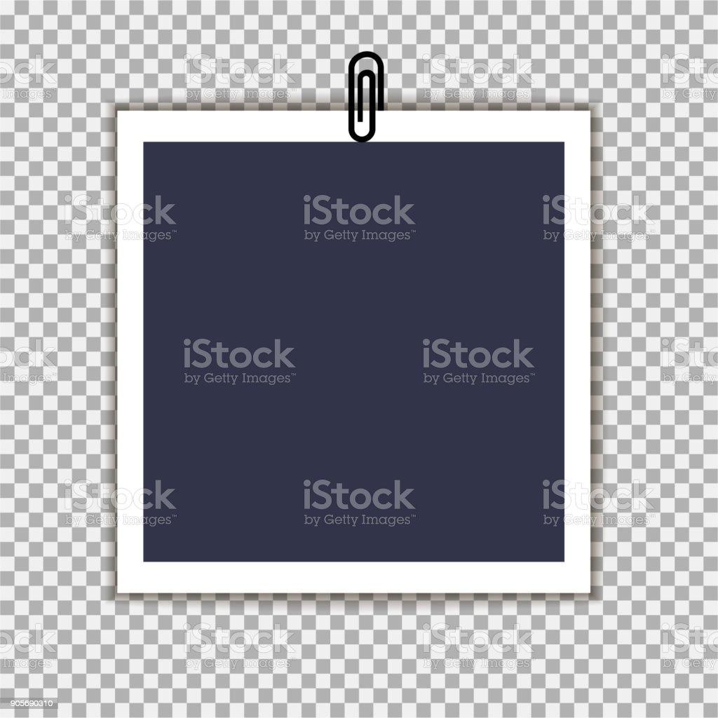 Fotorahmen Mit Clip Auf Isolieren Hintergrund Vorlage Für Ihre ...