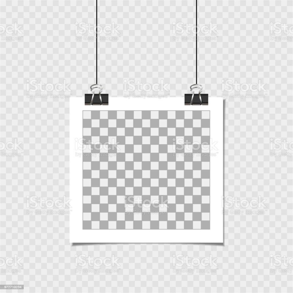 Cadre photo avec épingle. Modèle de vecteur pour votre image ou photo  tendance cadre photo d8254c62aef