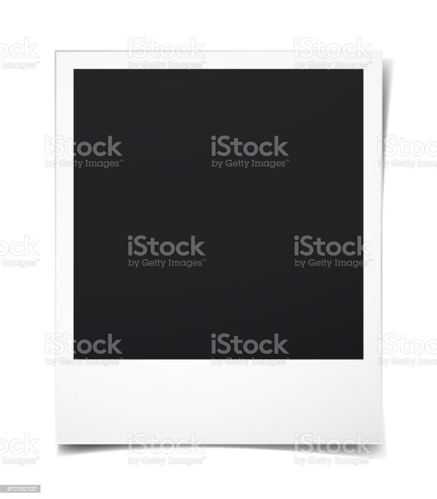 Cadre photo avec shadow - Illustration vectorielle