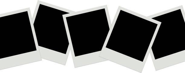Photo frames background. Instant film. Photo frames background. Instant film. polaroid frame stock illustrations