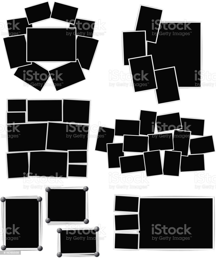 Composition de cadres photo sur fond blanc. Modèle de conception de vecteur composition de cadres photo sur fond blanc modèle de conception de vecteur vecteurs libres de droits et plus d'images vectorielles de album de coupures libre de droits