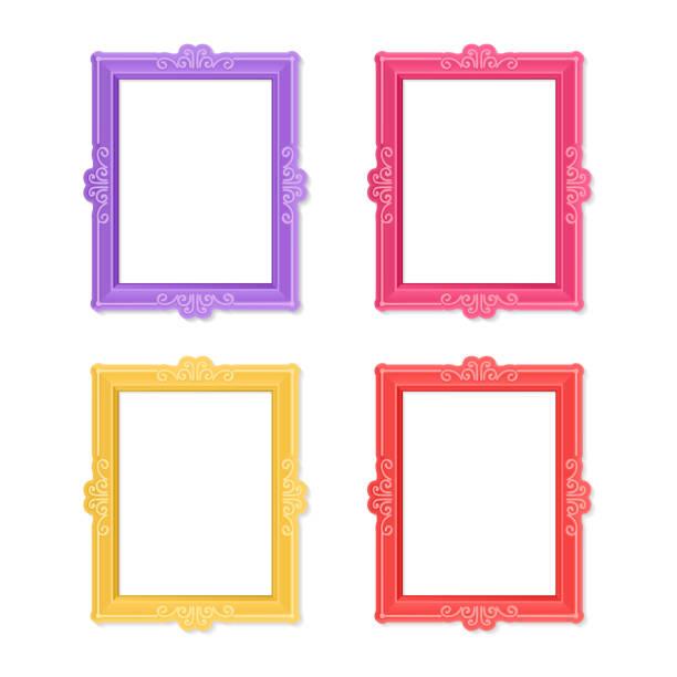 ilustraciones, imágenes clip art, dibujos animados e iconos de stock de foto marcos concepto - bordes de marcos de fotografías
