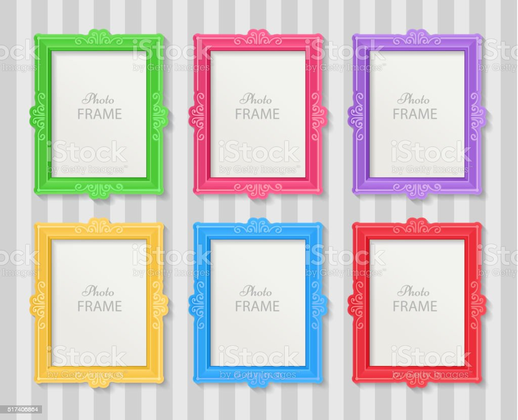 Photo frames concept vector art illustration