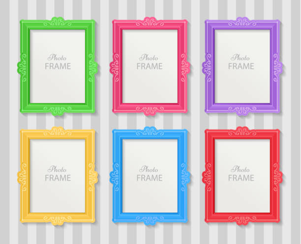 フォトフレームのコンセプト - 家族写真点のイラスト素材/クリップアート素材/マンガ素材/アイコン素材