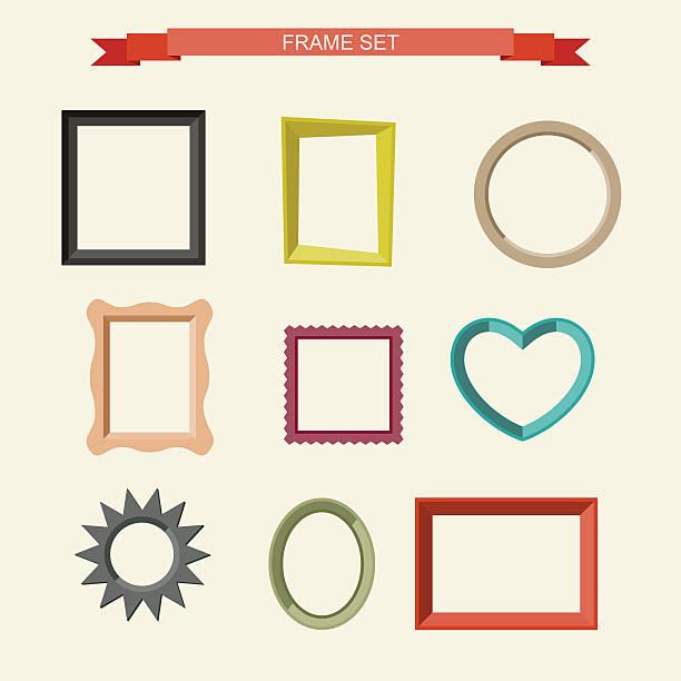 bildbanksillustrationer, clip art samt tecknat material och ikoner med photo frames - fotografi bild