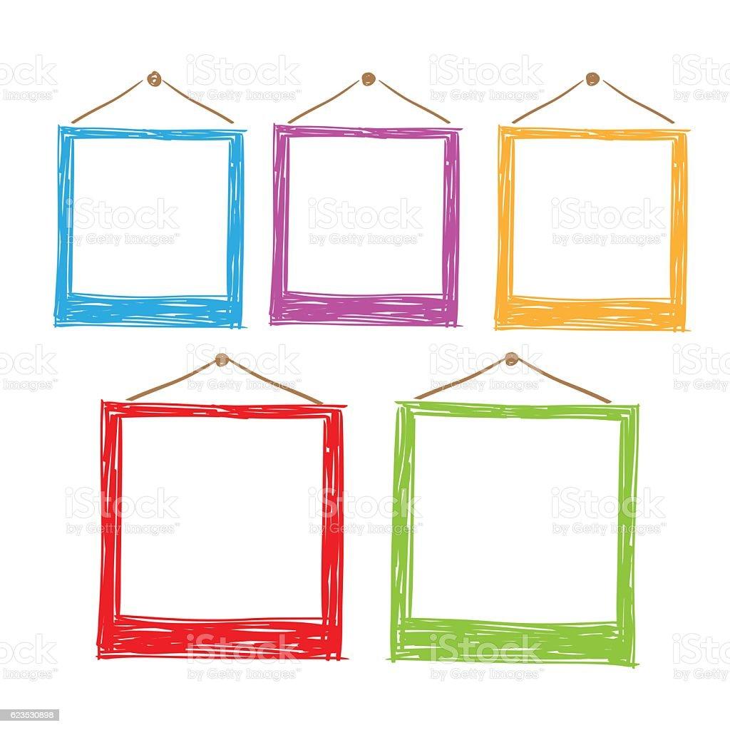 Photo frames vector. - ilustración de arte vectorial