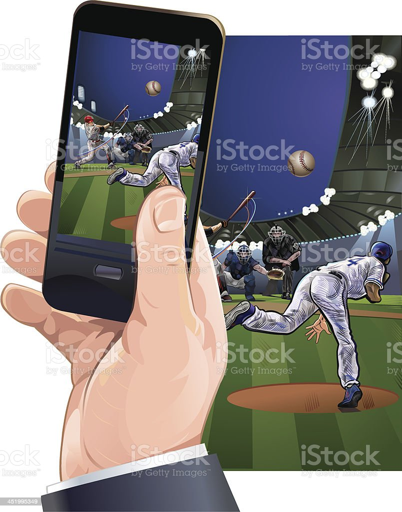 photo from the baseball game royalty-free stock vector art