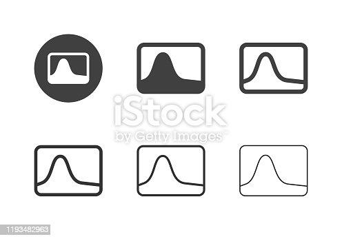 Photo Histogram Icons Multi Series Vector EPS File.