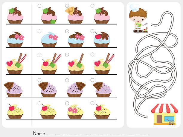 ilustrações de stock, clip art, desenhos animados e ícones de foto caça e jogo de labirinto de folha de cálculo para a educação - fail cooking