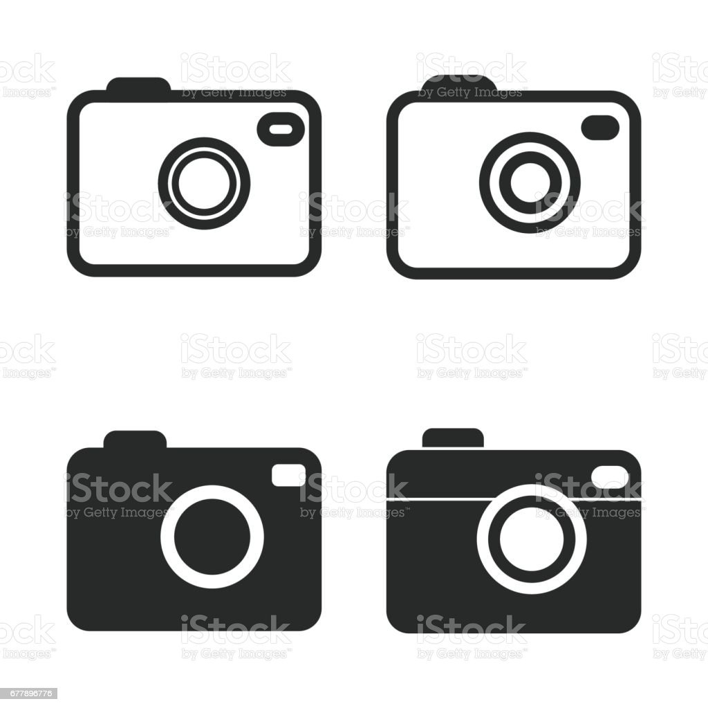 Photo icon set. royalty-free photo icon set stock vector art & more images of abstract