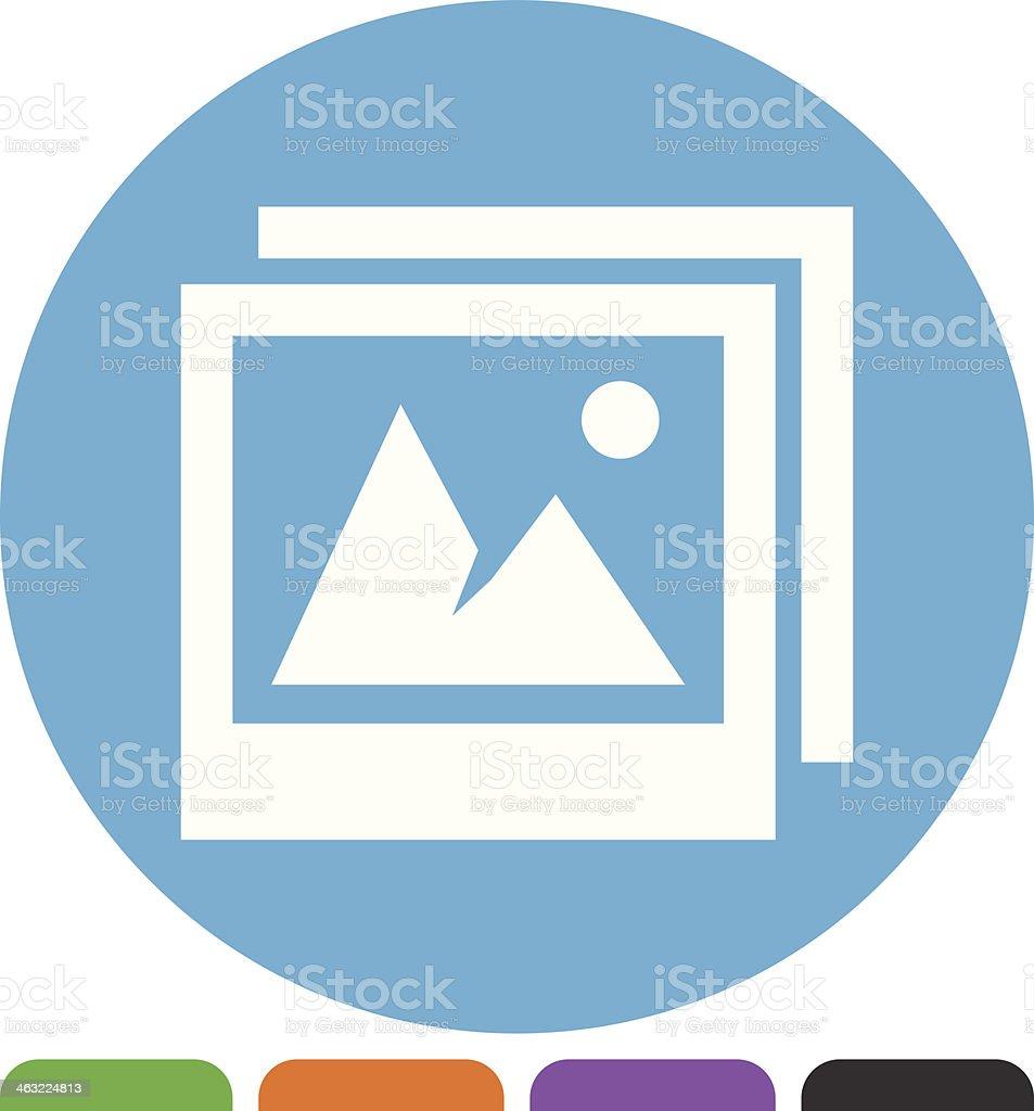 Photo icon royalty-free stock vector art