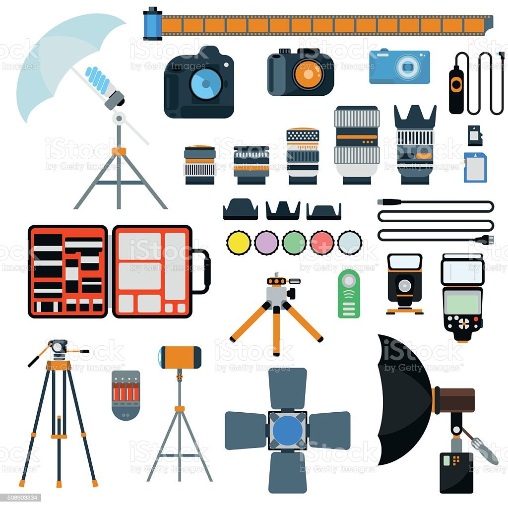 Photo icons vector collection vector art illustration