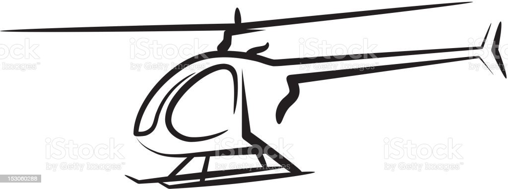 A photo illustration of a helicopter royalty-free stock vector art