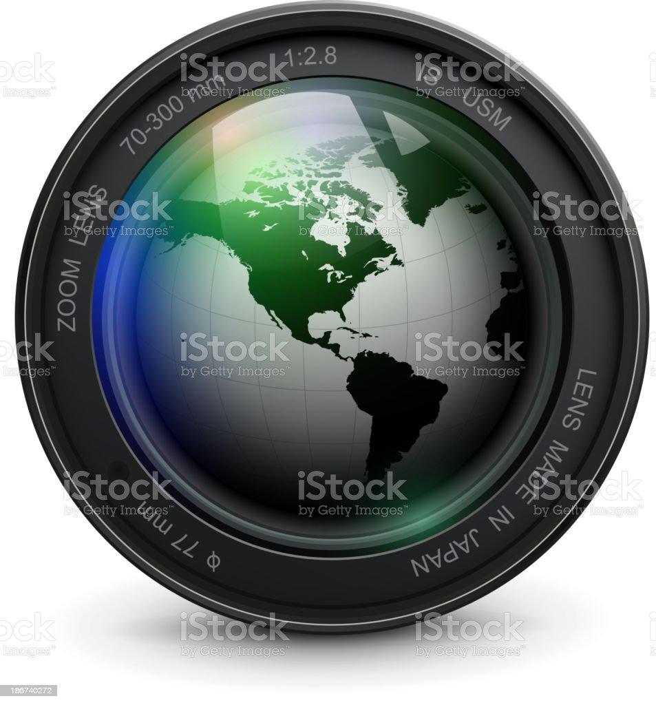 Photo lens royalty-free stock vector art