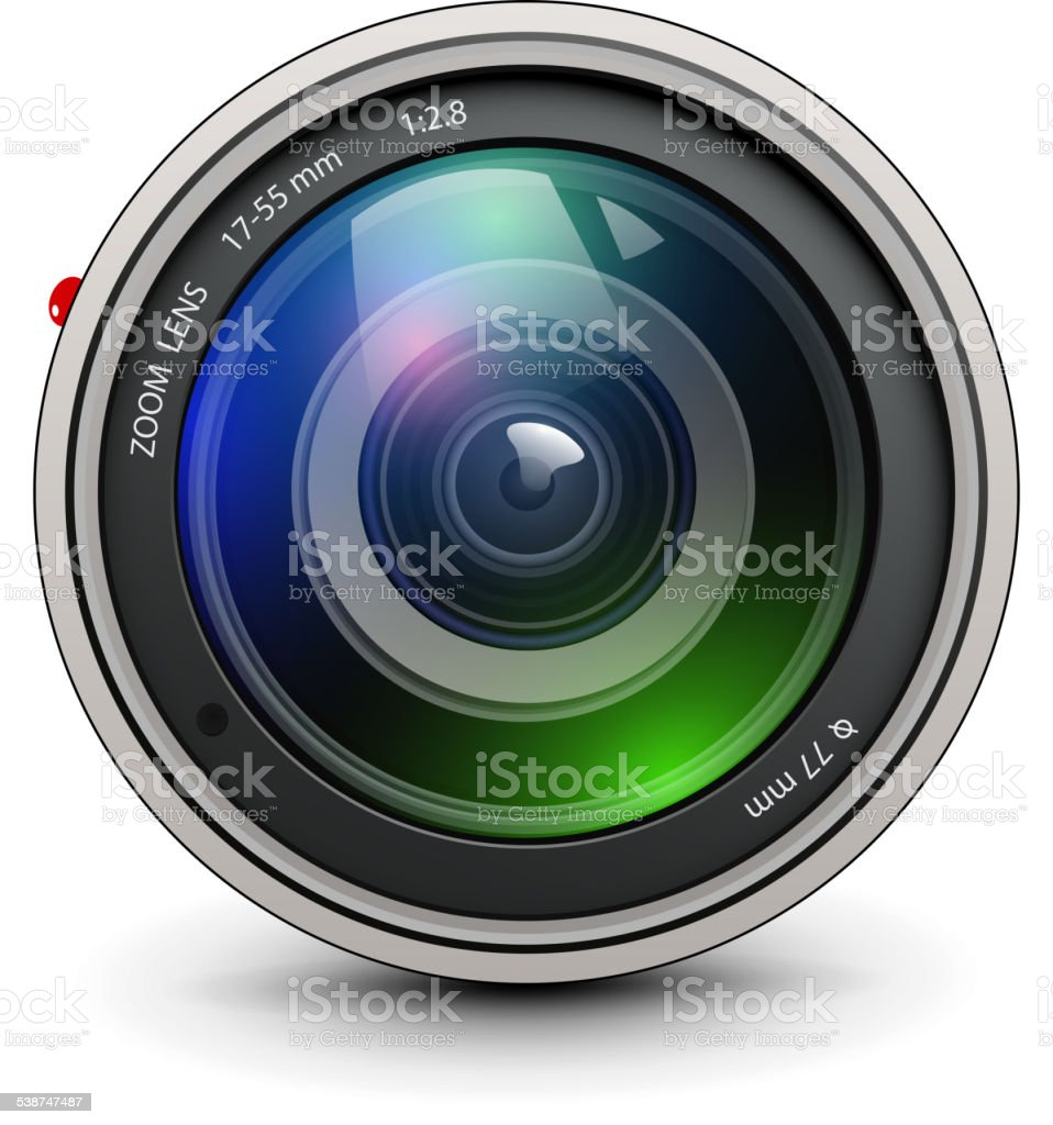 Photo lens vector art illustration