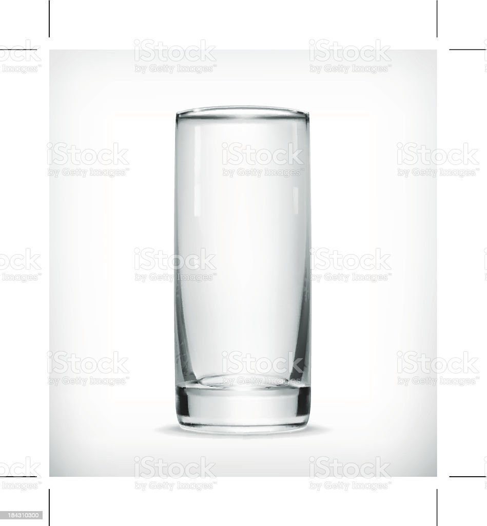 Photo of an empty glass on a white background vector art illustration