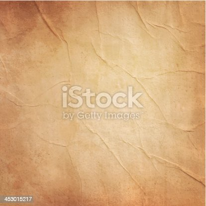 istock Photo of blank old folded brownish paper 453015217