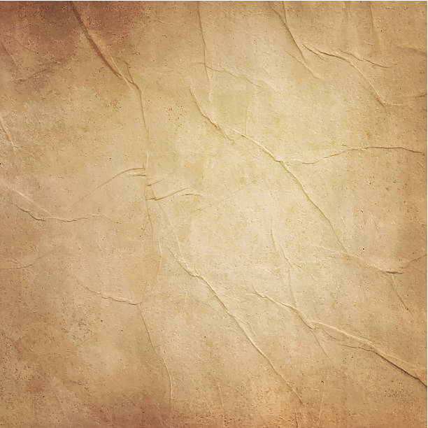 photo of blank old folded brownish paper - eski stock illustrations
