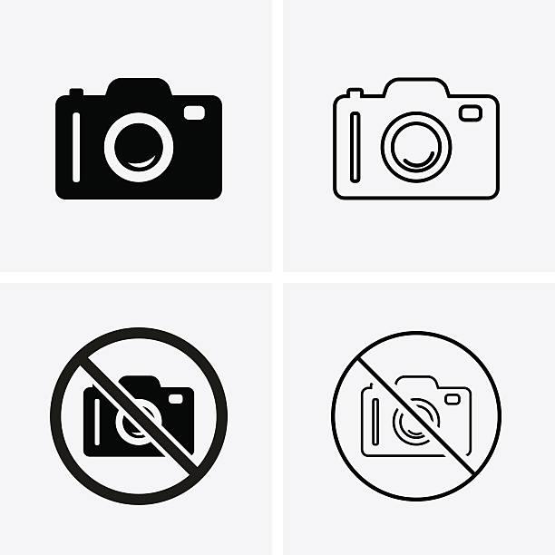 Icônes de caméra Photo ou - Illustration vectorielle