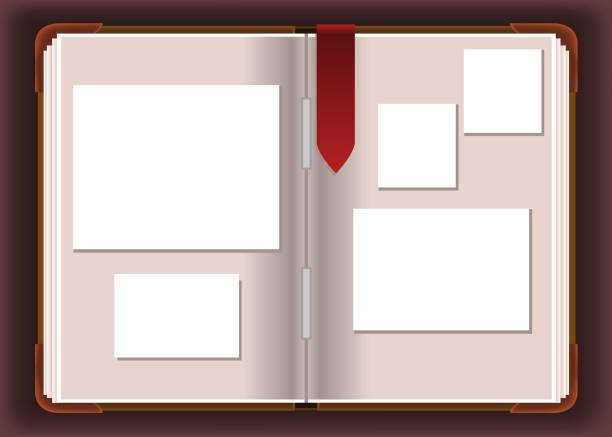foto fotografie album - palettenbilderrahmen stock-grafiken, -clipart, -cartoons und -symbole
