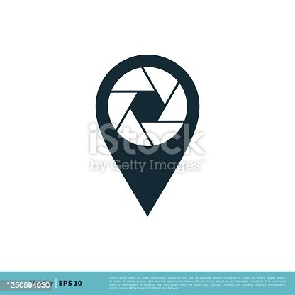 istock Photo Place Pointer / Pin Icon Vector Logo Template Illustration Design. Vector EPS 10. 1250594030