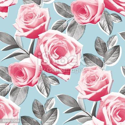 Photo Real Roses Wallpaper Pattern