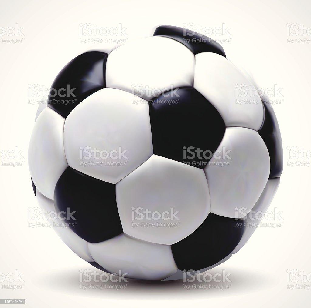 photo realistic soccer ball royalty-free stock vector art