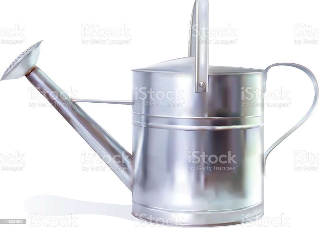 Photo Realistic Watering can vector art illustration