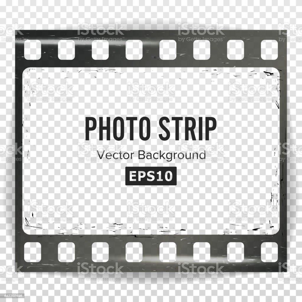 Photo strip vector realistic empty frame strip blank - Negativos de fotos ...