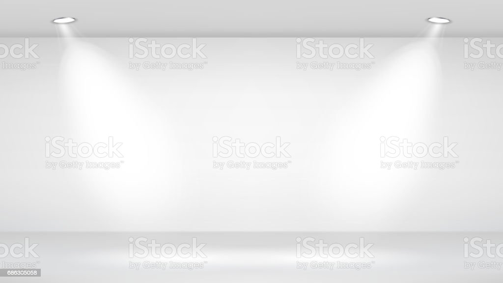 Photo Studio Room. Empty White Interior. Vector Template Illustration. Vector Illustration vector art illustration
