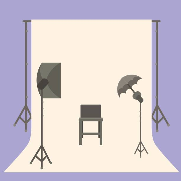 studio vector television icon clip illustrations camera newsroom
