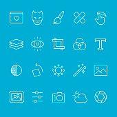 Photo theme outline icons
