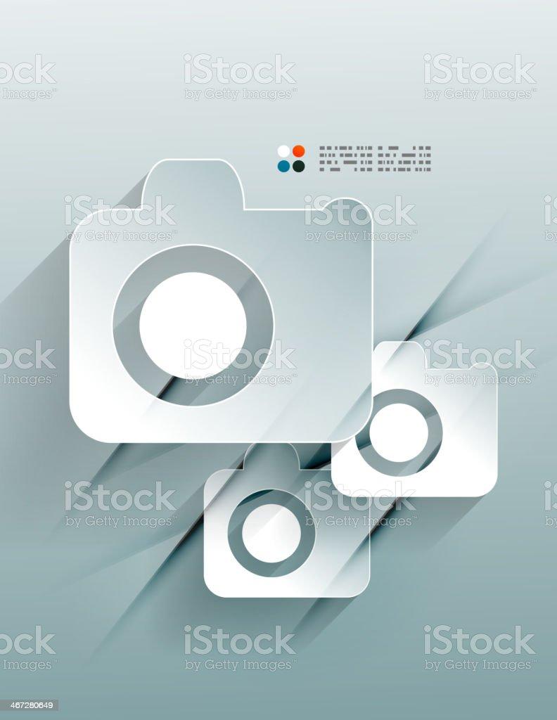 Photo vector 3d paper design royalty-free stock vector art