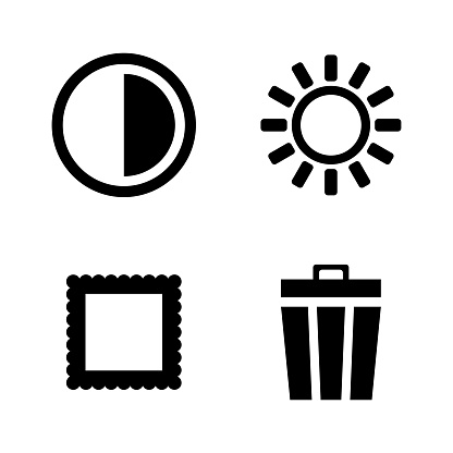 Photo Video Camera Mode. Simple Related Vector Icons