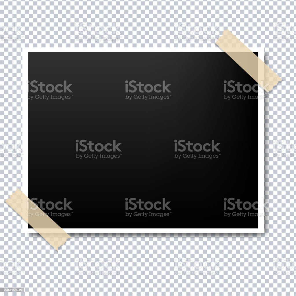Photo With Sticker vector art illustration
