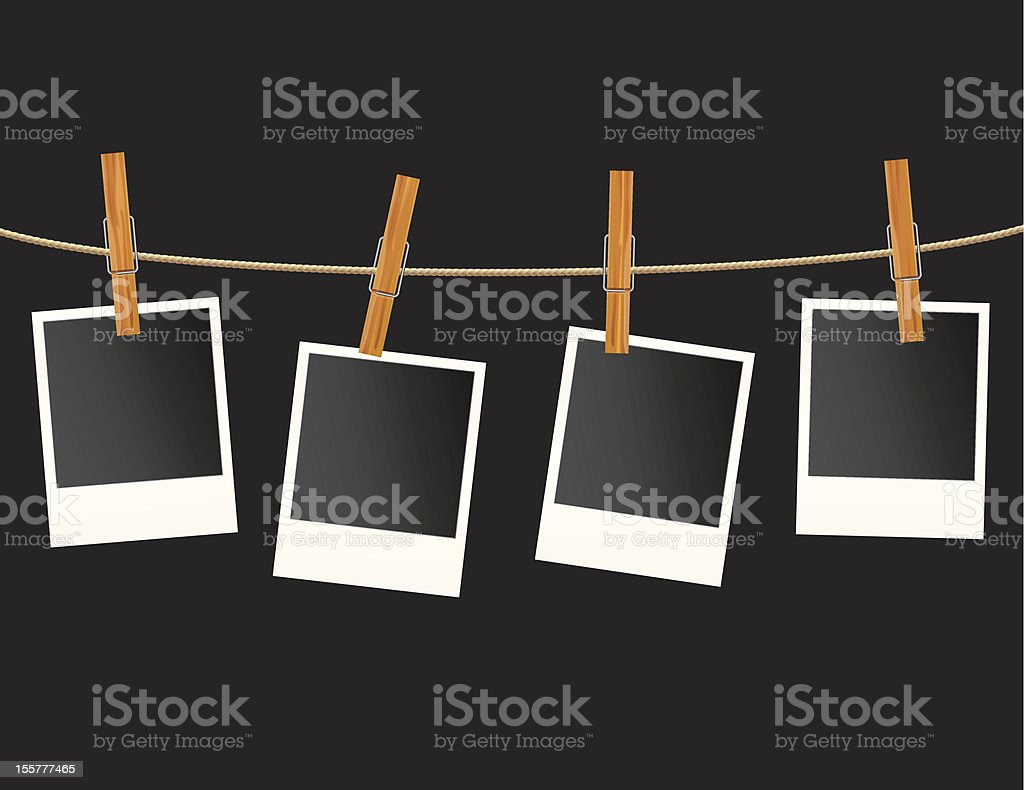 photo wooden clips royalty-free stock vector art