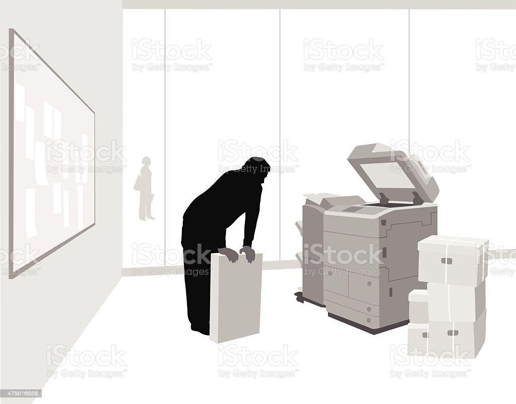 PhotoCopier  Maintenance vector art illustration