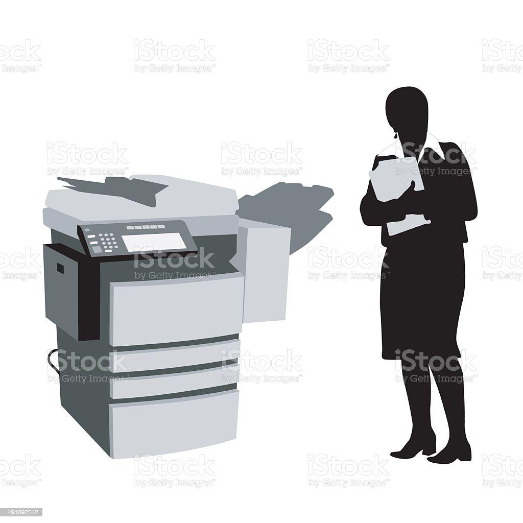 Photocopier vector art illustration