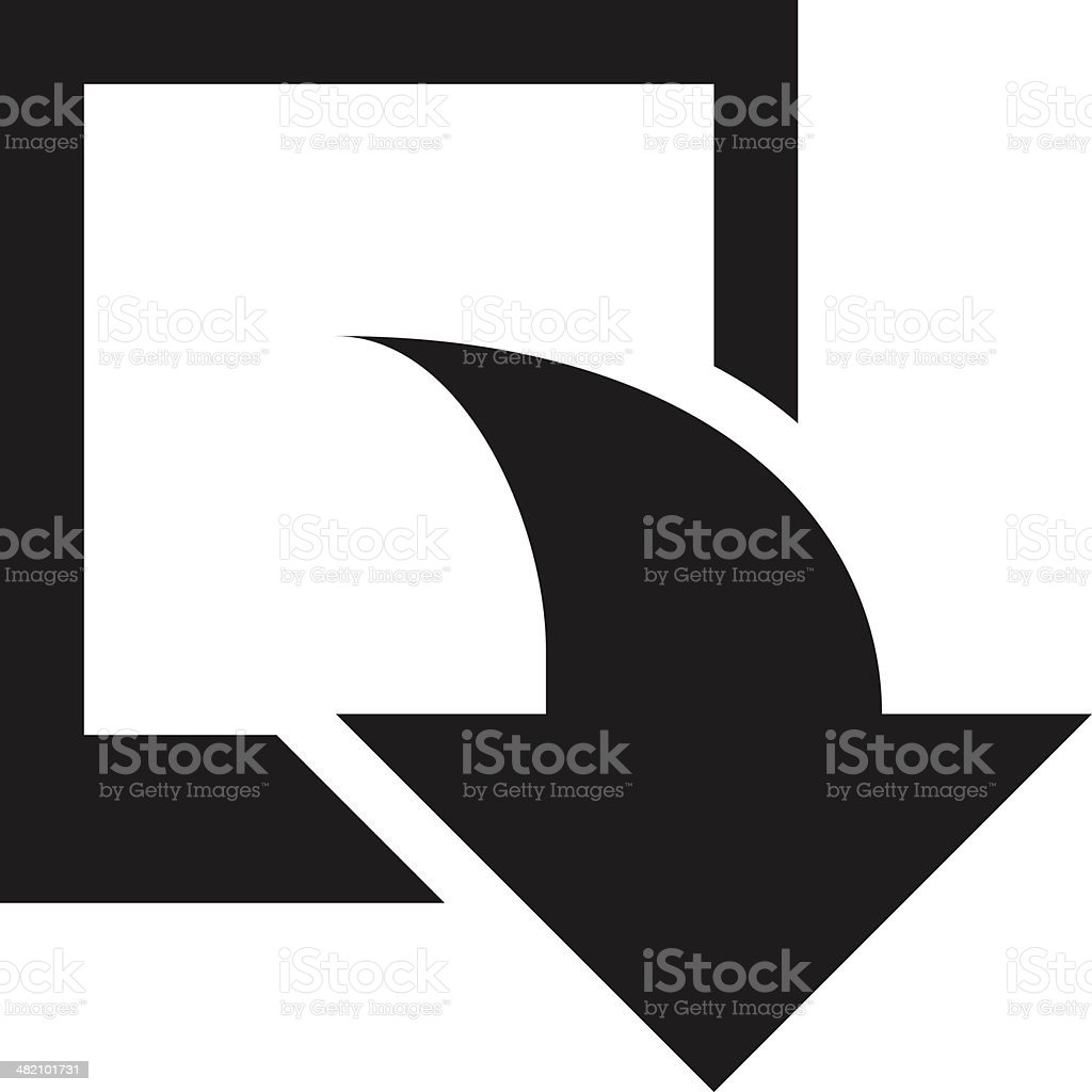 Photograph Downloading icon royalty-free photograph downloading icon stock vector art & more images of arrow symbol