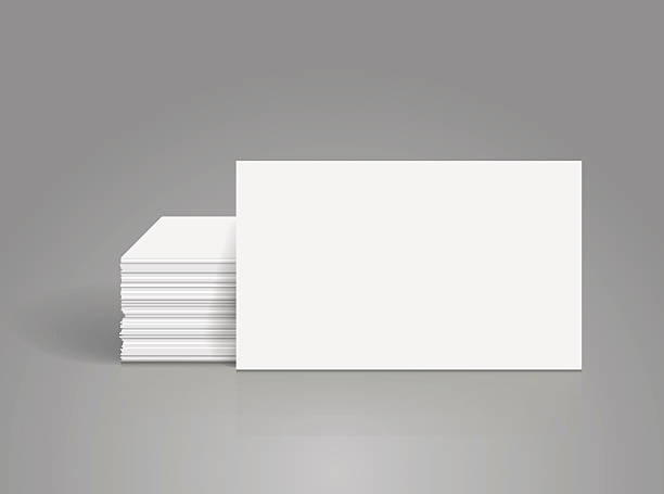 Royalty free stack of business cards clip art vector images a photograph image of blank white business cards stacked up vector art illustration reheart Images