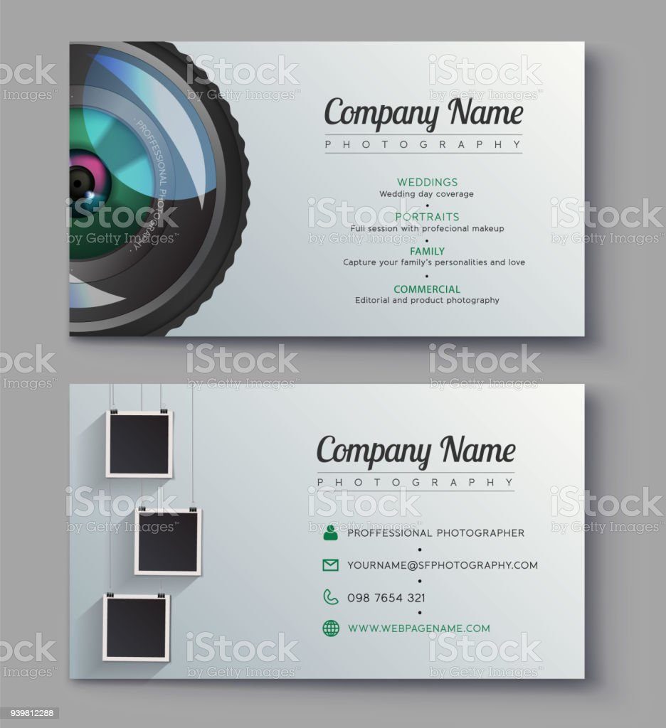 photographer business card template design for photography studio