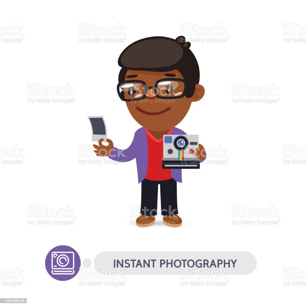 Vetores De Personagem De Desenho Animado De Fotografo Com Maquina