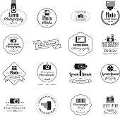 Photographer filmmaker emblems and logos