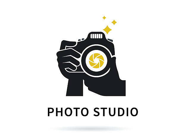 Photographer Hands With Camera Flat Illustration For Icon Or Logo Vector Art