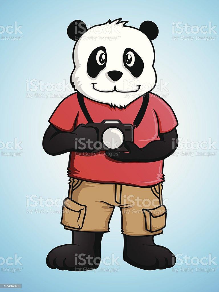 Photographer Panda royalty-free photographer panda stock vector art & more images of animal