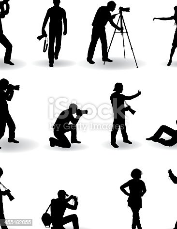 Photographer Silhouette Illustration