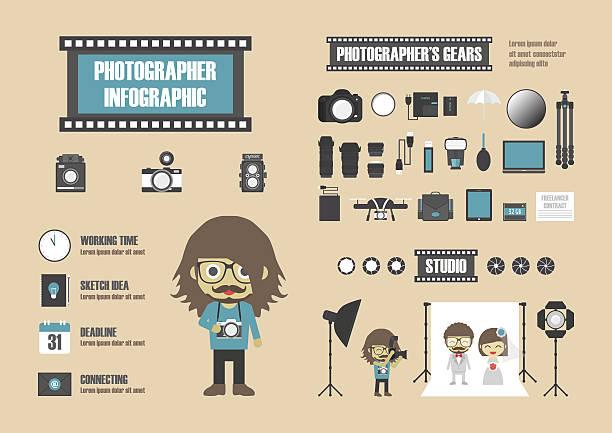 photographer - wedding photographer stock illustrations