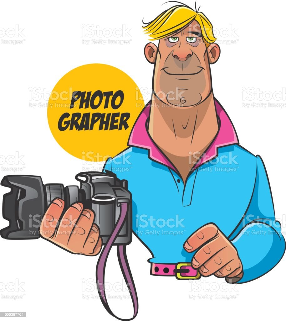 Photographer vector art illustration
