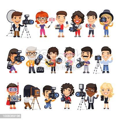 istock Photographers Flat Cartoon Characters 1006089196